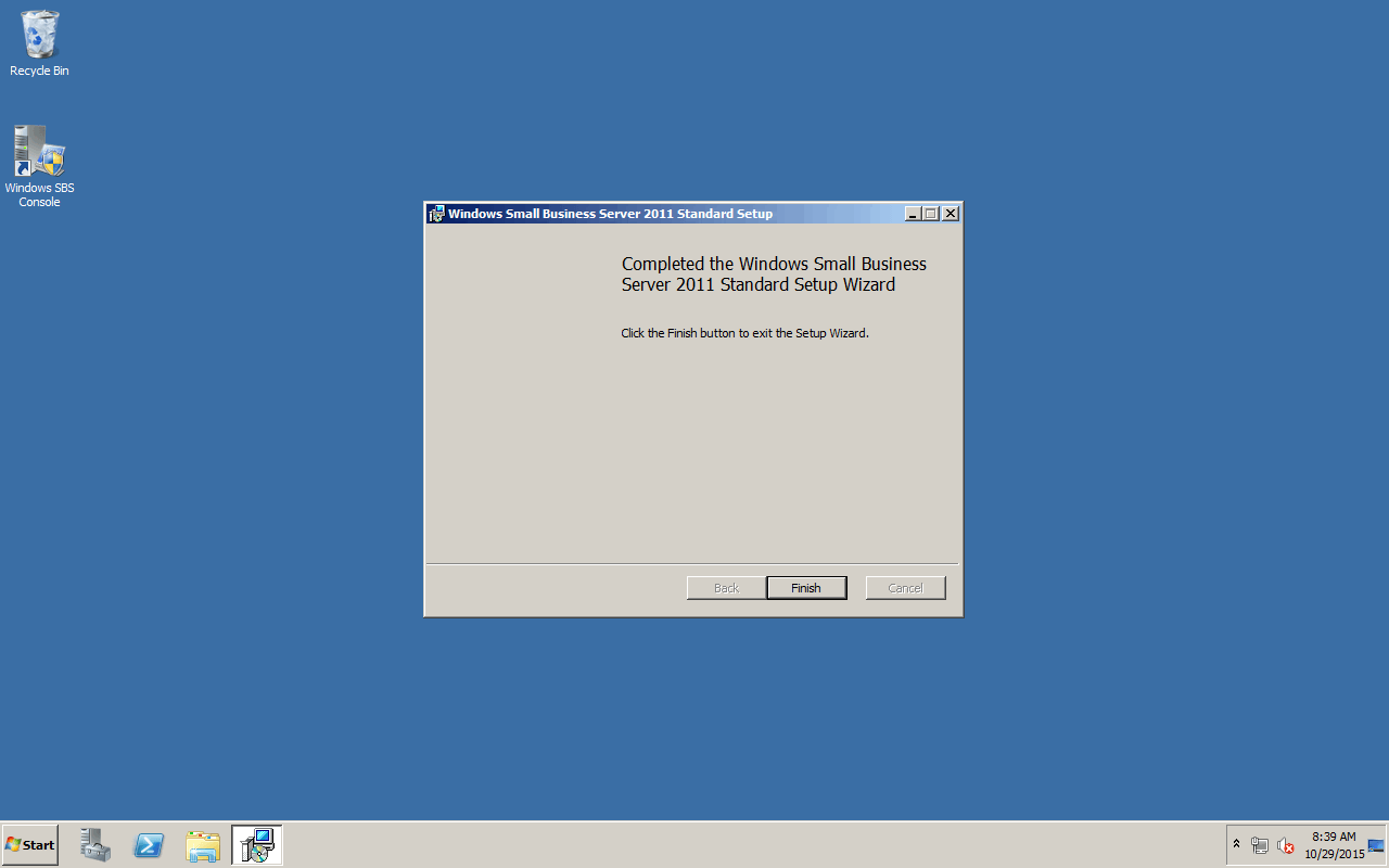 Install Update Rollup 4 for Windows Small Business Server 2011 Standard