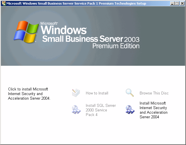 How to install Service Pack 1 for SBS 2003
