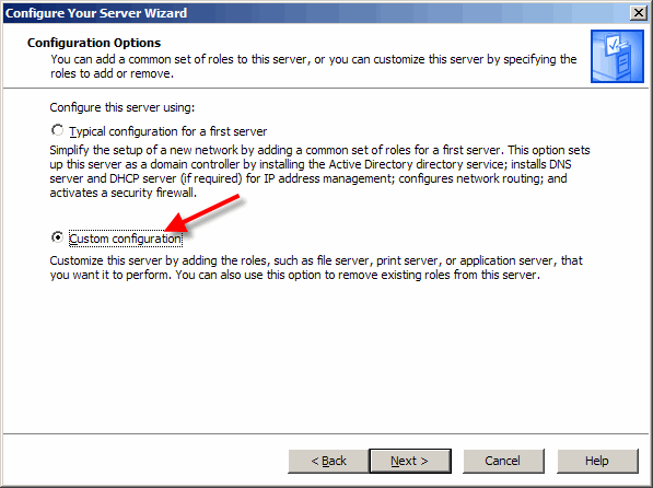 Change the role of the Windows 2003 Server so that it becomes a Terminal Server